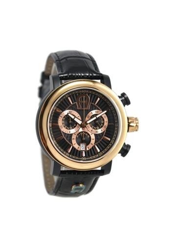 Aigner black Aigner Jam Tangan Pria Hitam Leather Strap A37524 Bari Chrono  AI473AC80KLFID 1 e500897a1c