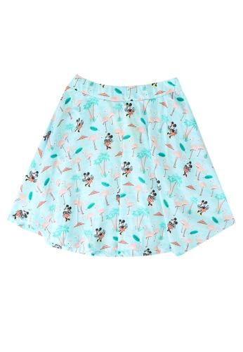 LC Waikiki blue Minnie Mouse Cotton Skirt 6772FKA4B1A1B1GS_1