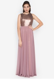 Tantease pink Madison Sequins Long Dress E9A7FAAFC1BB7AGS_1