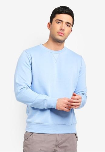 Brave Soul blue Crew Neck Sweatshirt 07BECAA4A78A16GS_1