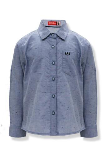 Osella Kids Osella Baju Anak Laki laki Kemeja Lengan Panjang Blue 7238EKAD20E43BGS_1