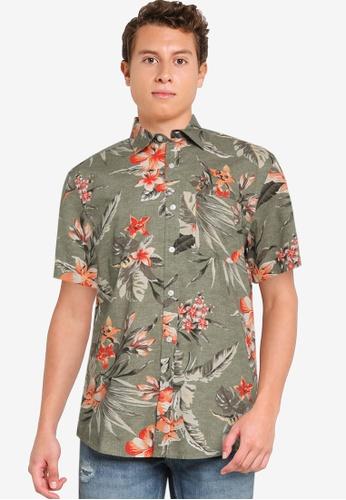 Old Navy green Short Sleeve Perfect Printed Shirt 3CA07AAA7B56A1GS_1