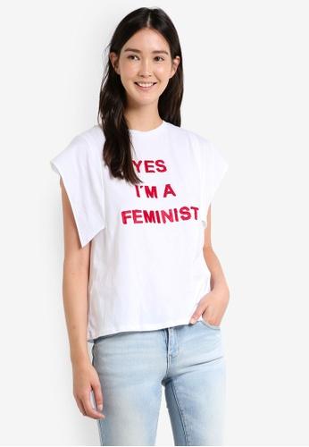 Mango white Message Cotton T-Shirt MA193AA0RAVTMY_1