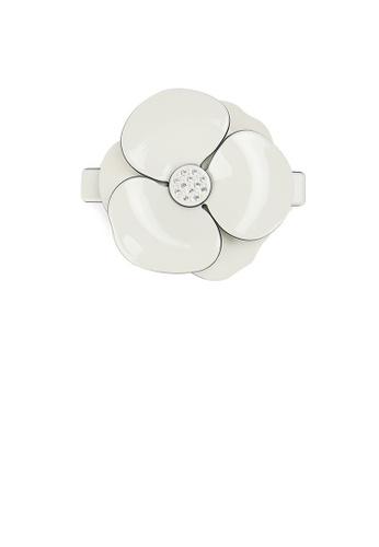 Glamorousky white Fashion and Elegant Beige Camellia Large Hair Slide with Cubic Zirconia 5DDE3ACF0BCE55GS_1