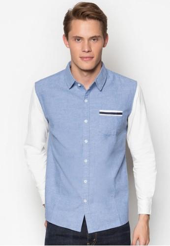休閒長袖襯衫, 服飾, 素色襯esprit sg衫