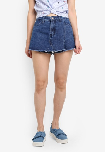 Something Borrowed blue LAYERED SKIRT SHORTS 12F11AA3D8A68AGS_1
