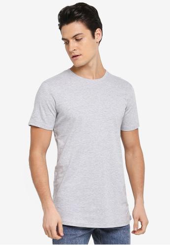 Cotton On 灰色 Essential Longline Curved Hem Tee 32025AA0396CB2GS_1