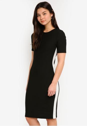 Dorothy Perkins 黑色 Black And White Stripe Dress DABDAAA8974F16GS_1