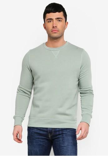 Brave Soul green Crew Neck Sweatshirt A152AAA9557A3CGS_1