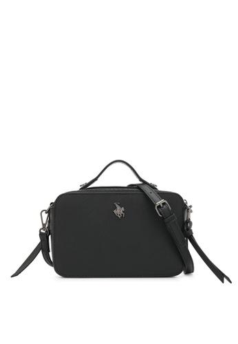 Swiss Polo black Rectangle Top Handle Sling Bag 57CBCACD6EC045GS_1