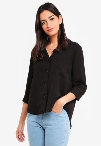 ZALORA BASICS black Relaxed Shirt 86DB9AAC2B27F3GS_1