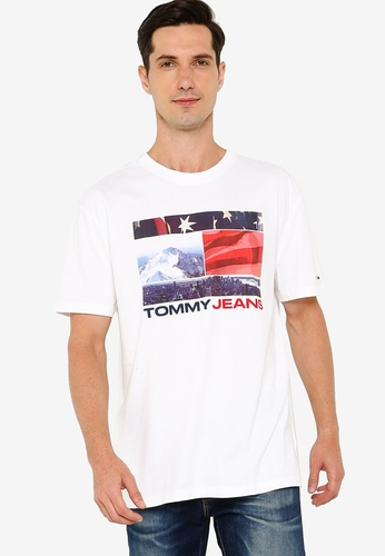 Tommy Hilfiger white Tjm Photo Graphic Tee 30473AA64CA9CAGS_1