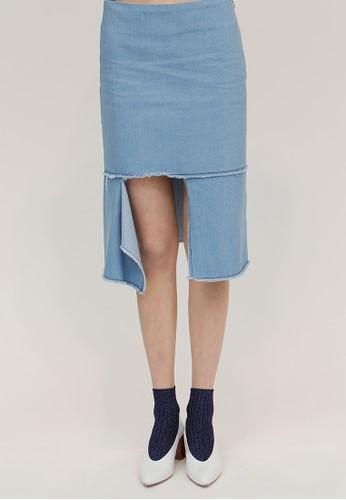 前面開衩細節中長款裙, esprit 童裝韓系時尚, 裙子