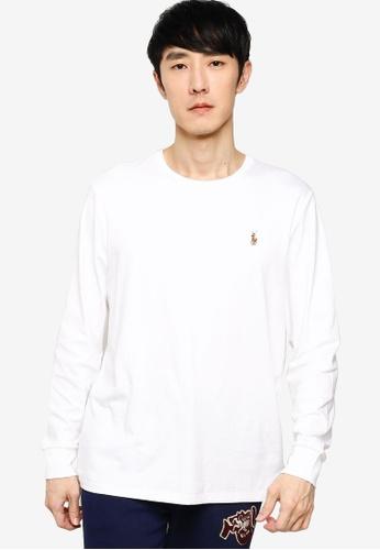 polo ralph lauren white Slim Fit Pima T-Shirt 32760AAA22B4D5GS_1