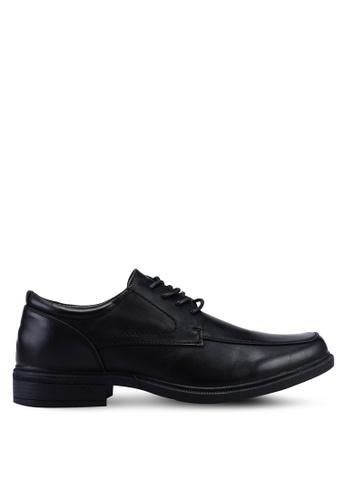 Bata black Faux Leather Lace Up Shoes FB747SH2AA0A5CGS_1