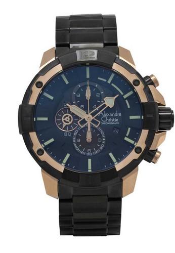 Alexandre Christie black Alexandre Christie Jam Tangan Pria - Black Rosegold - Stainless Steel - 6551 MCBBRBA 8850EAC2753A48GS_1
