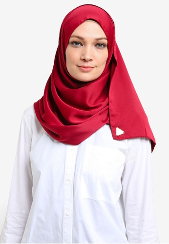 Cakenis red Cakenis Lush Satin Shawl CA625AA30SAFMY_1