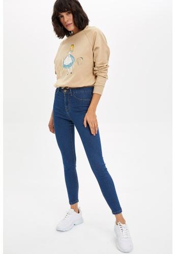 DeFacto 藍色 Woman Trousers 5190EAAC0D0763GS_1