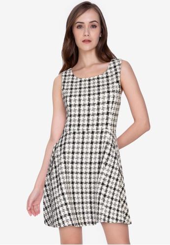 ZALORA WORK multi Fit & Flare Tweed Dress CF69DAAA3F1AFEGS_1