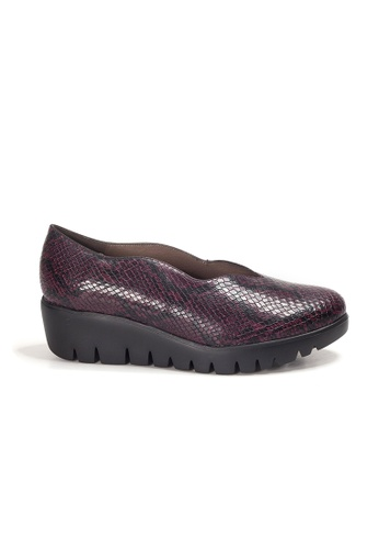 Shu Talk red WONDERS Comfortable Snakeskin Printed Platform Shoes 31ABDSH9B77914GS_1