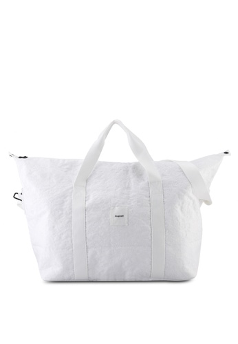 Desigual white Oversized Duffle Bag 9AF4CACD4C381AGS_1