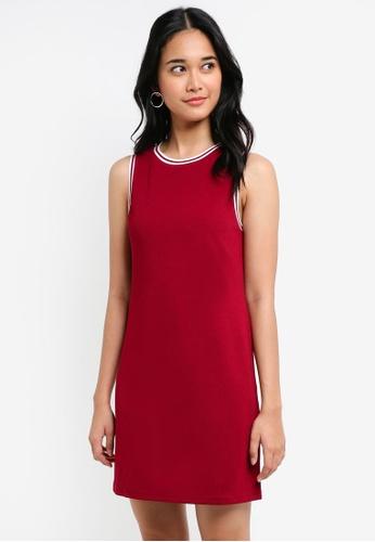 Something Borrowed red Stripe Trim Sleeveless Dress 99D9CAA7A1D7DDGS_1