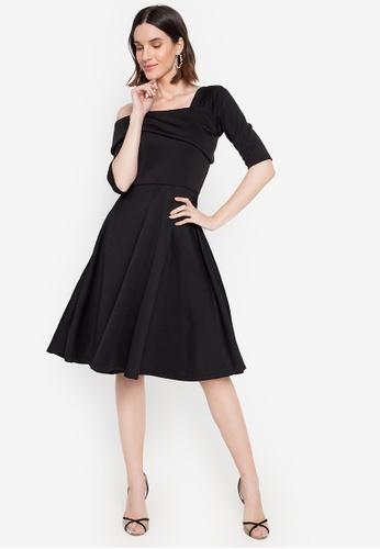 Hug black Nuit One Shoulder Dress DBC4CAA811DA17GS_1