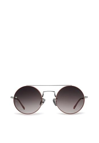 agnès b. pink agnès b. Metal Sunglasses AB10024 Maurice 9AEF3GLB5CB09AGS_1