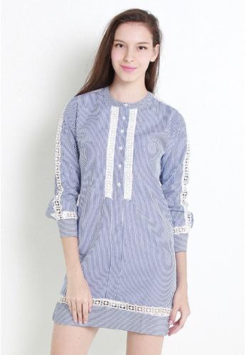 Leline Style blue Nolan Shirt Dress LE802AA49ALISG_1