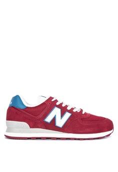 1de95c63e0e82 New Balance red 574 Classic (Vintage Pack) Sneakers 50CA0SH73C98C1GS_1