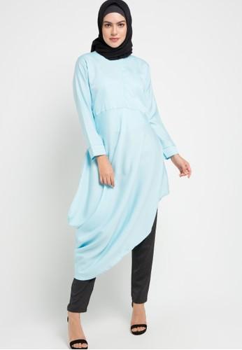 Aira Muslim Butik blue Tya Tunic Polos AAEE8AA783E38FGS_1