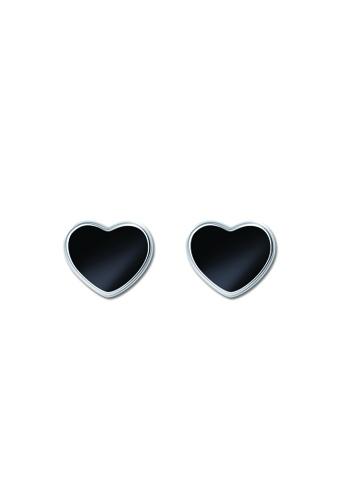 SC Tom Silver silver Flat Heart Stud Earring SC872AC83TAIPH_1