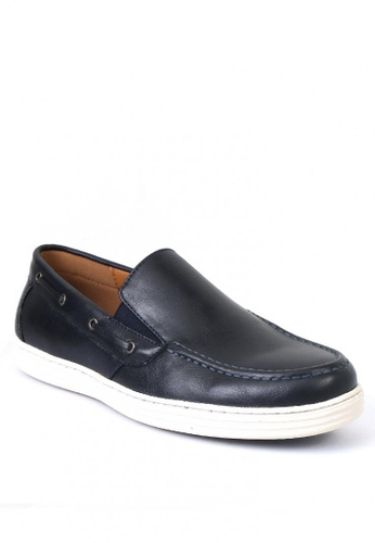 7soles navy Robin Men's Loafers BF744SHD49A30DGS_1