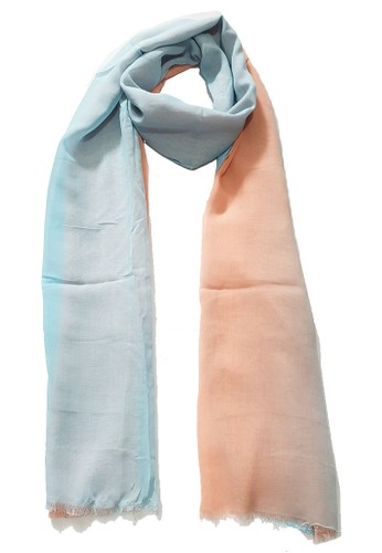 San Marco pink and blue Ombre PolyCotton Scarf Baby Blue & Peach 05005AA3A53A8AGS_1