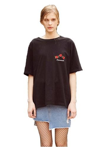 17SS Holiesprit門市cMonth黑色T恤, 服飾, 上衣
