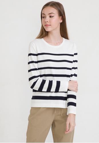 ca9ab692ce Buy Bossini Striped Breton Long Sleeve Sweater Online on ZALORA Singapore