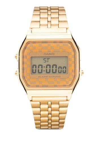 Casio gold Casio Vintage Gold Tone Chronograph Alarm LCD Digital Watch CA843AC54SKZMY_1