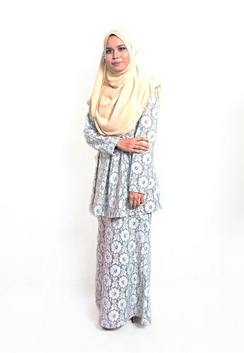 Denai Boutique white Baju Kurung Jannah EE408AAF30FCC5GS_1