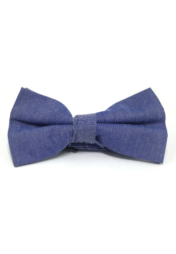 Splice Cufflinks Lucid Series Bright Blue Polyester Fabric Bow Tie SP744AC73QQSSG_1