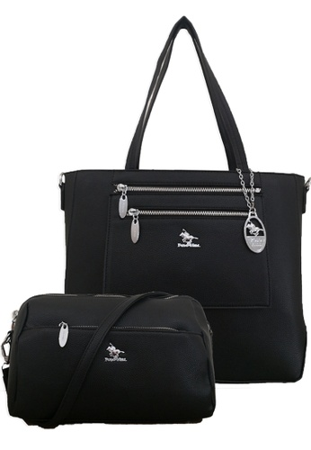 Polo Hill black Polo Hill Tote with Pouch Black 3F802AC427FBB9GS_1