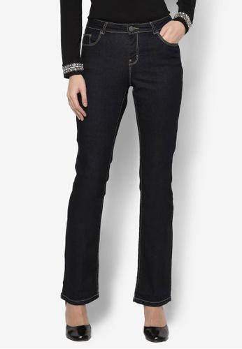 Dorothy Perkins blue Regular - Indigo Bootcut Jeans DO816AA73FCCMY_1