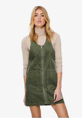 JACQUELINE DE YONG green Shiraz Corduroy Zip Dress 9322BAA510A66EGS_1