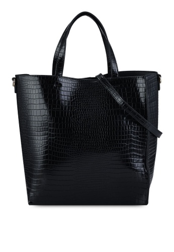 Vero Moda black Sine Shopper Bag 8DAC4AC3033FEDGS_1