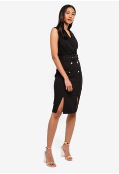 04316c83004b 41% OFF Lipsy V Neck Double Split Tux Midi Dress S$ 137.90 NOW S$ 80.90  Sizes 6