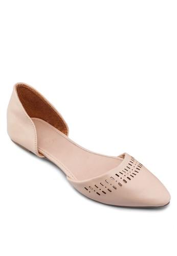 鏤zalora 內衣空側空平底鞋, 女鞋, 鞋