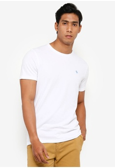 0dc49895 Abercrombie & Fitch white Short Sleeve Pop Icon Crew Tee 17D71AA5F96FB3GS_1