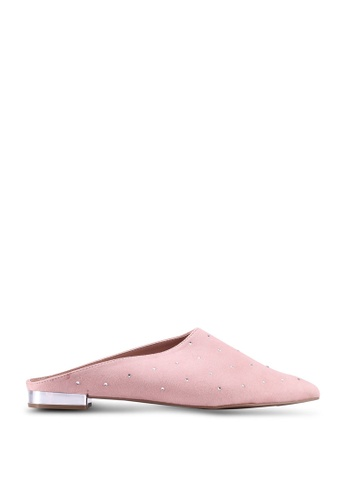 Call It Spring pink Greval Pointed Toe Mules 45F52SH2C2B092GS_1