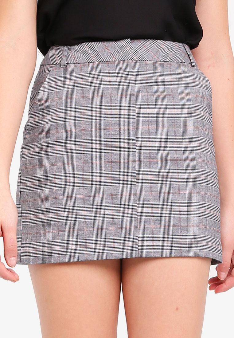 Grey Selfridge Mini Skirt Grey Checked Miss 0nxg6wcaqg