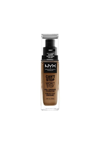 NYX Professional Makeup brown NYX Professional Makeup Can't Stop Won't Stop 24HR Foundation - HONEY 8B5ABBE002BD5DGS_1