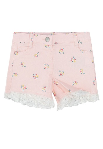 LC Waikiki pink Baby Girl's Printed Shorts 35C74KAFFC9543GS_1